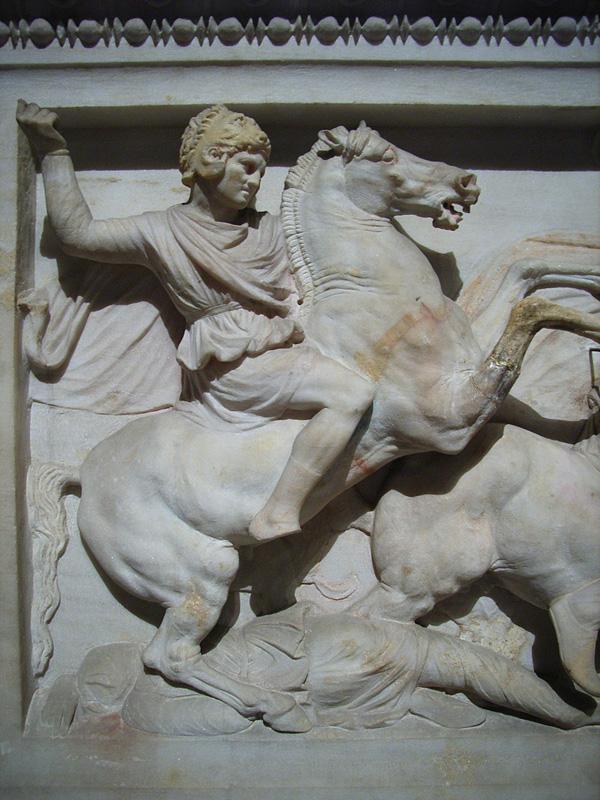 アレクサンドロス大王の石棺 『アレクサンドロス大王の石棺』と呼ばれていますが、 残念ながら、棺の
